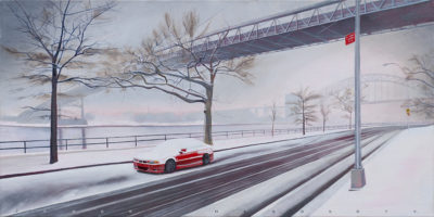 RED ALONG THE RIVERoil on canvas18 inches x 36 inches2010